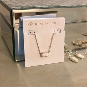 Kendra Scott Pattie White Mother of Pearl Necklace